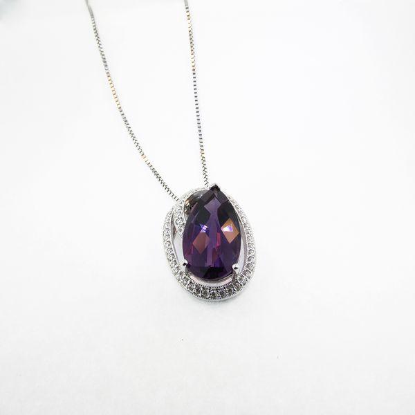 Gold Amethyst and Diamond Slide Graham Jewelers Wayzata, MN