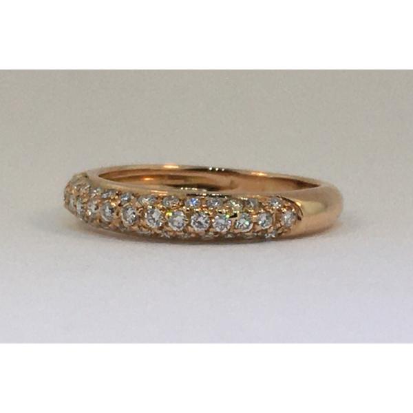 Rose Gold Diamond Pave Band Graham Jewelers Wayzata, MN
