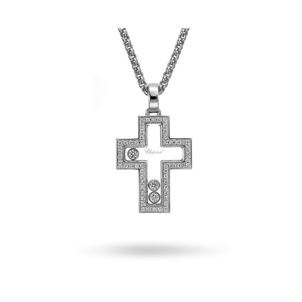 Chopard 18K Gold Happy Diamond Cross  Graham Jewelers Wayzata, MN