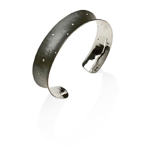 EcoSilver and Diamond Bangle Bracelet Graham Jewelers Wayzata, MN