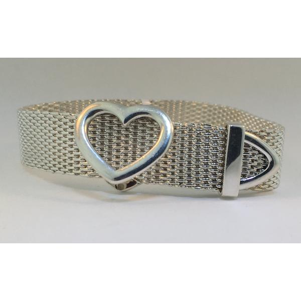 Tiffany & Co. Sterling Silver Somerset Heart Buckle Bracelet Graham Jewelers Wayzata, MN