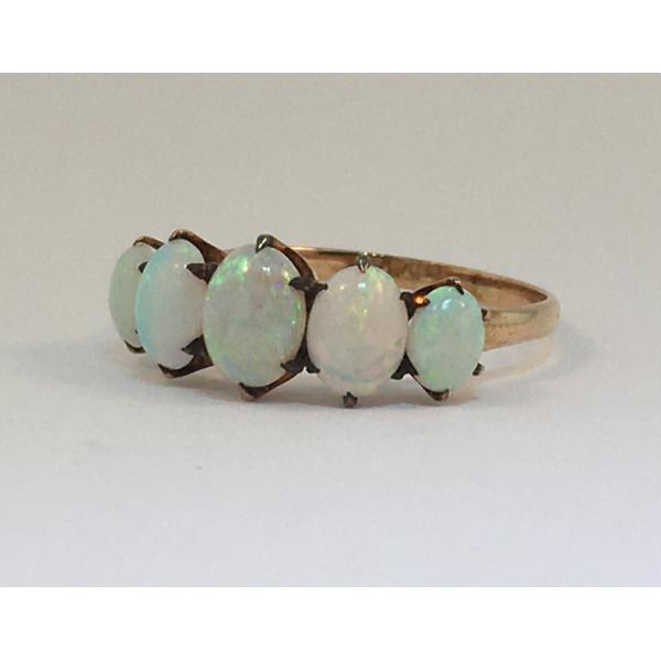 Gold Graduated Opal Estate Ring Graham Jewelers Wayzata, MN