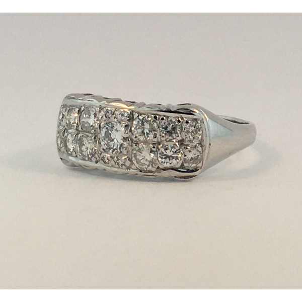 14 Karat White Gold Diamond Double Row Ring  Image 2 Graham Jewelers Wayzata, MN