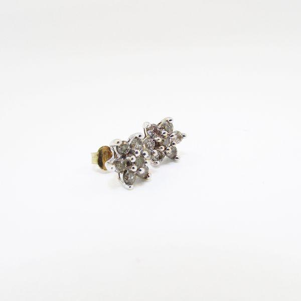 Gold and Diamond Star Earrings Graham Jewelers Wayzata, MN