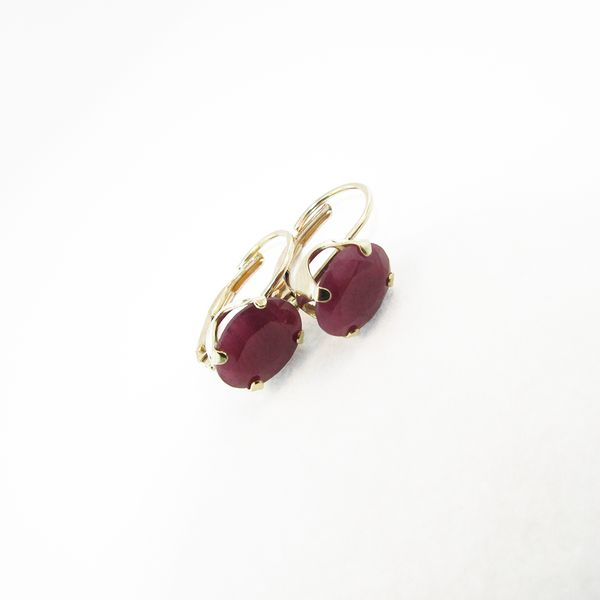 Oval Ruby Earrings Graham Jewelers Wayzata, MN