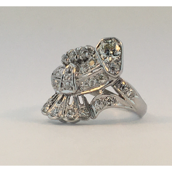 Platinum Diamond Vintage Ring Graham Jewelers Wayzata, MN