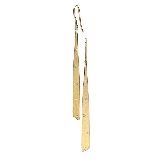 18k Yellow gold and Diamond Drop earrings Graham Jewelers Wayzata, MN