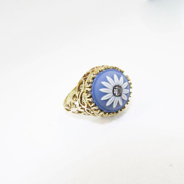 Diamond Wedgewood Flower Ring Graham Jewelers Wayzata, MN