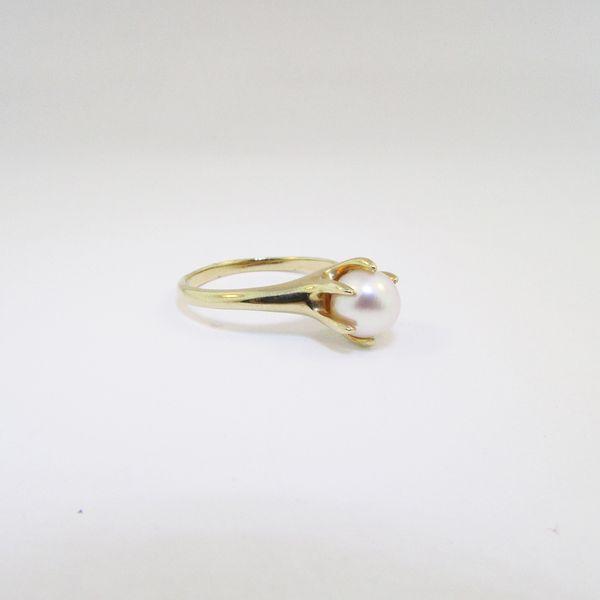 Yellow Gold Pearl Ring Image 2 Graham Jewelers Wayzata, MN