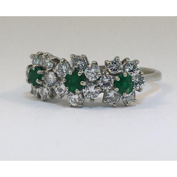 Gold Diamond & Emerald Flower Ring  Graham Jewelers Wayzata, MN