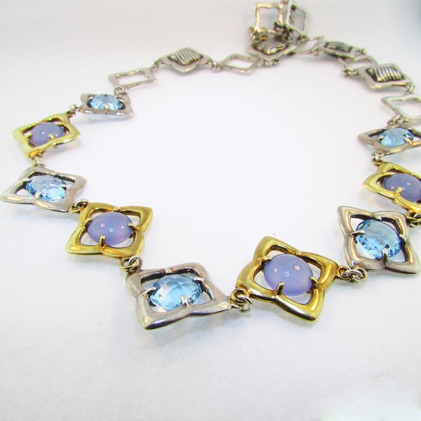 Moonstone and Blue Topaz David Yurman Necklace Graham Jewelers Wayzata, MN