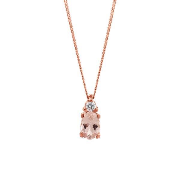 Morganite and Diamond Necklace Graziella Fine Jewellery Oshawa, ON