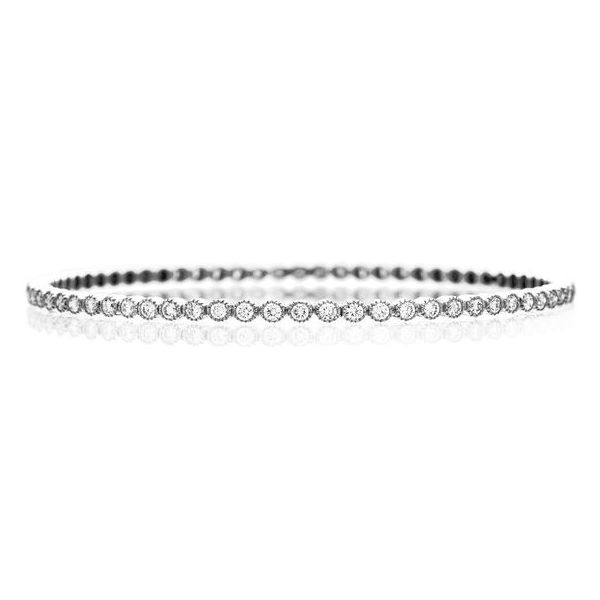 The Bezel Bangle in White Gold Grogan Jewelers Florence, AL