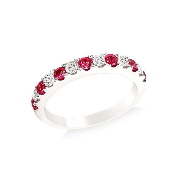 Ruby and Diamond, Half Way Eternity Band Grogan Jewelers Florence, AL