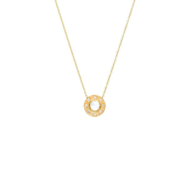 The Dunes Classic Necklace with White Diamonds in Yellow Gold Grogan Jewelers Florence, AL