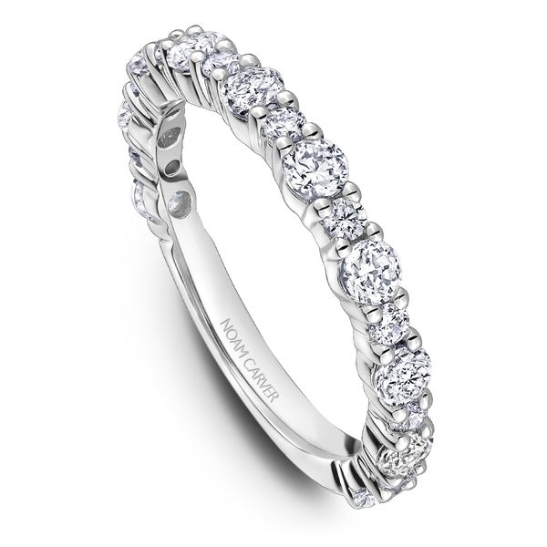 A Noam Carver Stackable in 18K White Gold with 19 Round Diamonds Grogan Jewelers Florence, AL