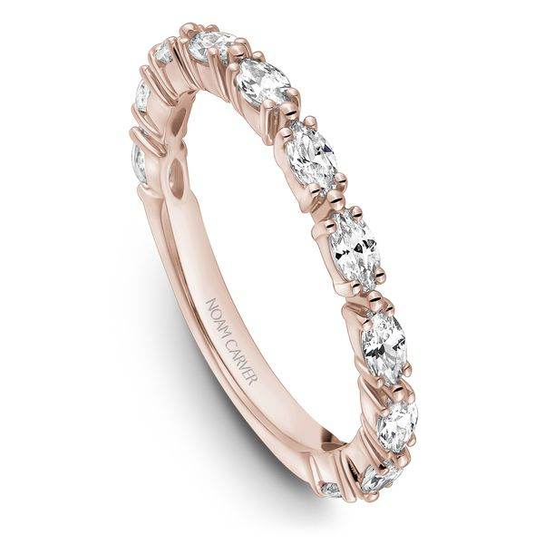 A Noam Carver Stackable in 14K Rose Gold with 11 Marquise Diamonds Grogan Jewelers Florence, AL