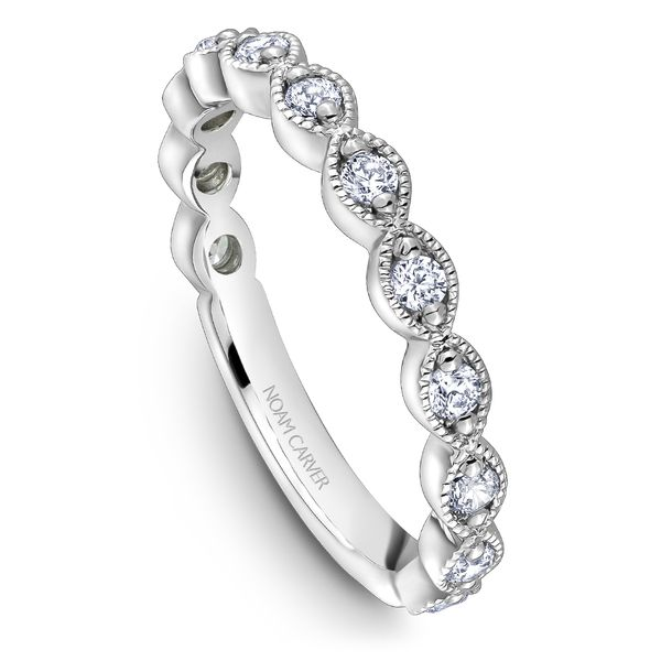 A Noam Carver Stackable in 18K White Gold with 12 Round Diamonds Grogan Jewelers Florence, AL
