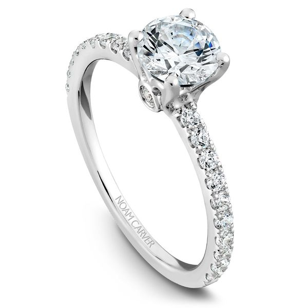 A Noam Carver Matching Band in 14K White Gold with 23 Round Diamonds Grogan Jewelers Florence, AL
