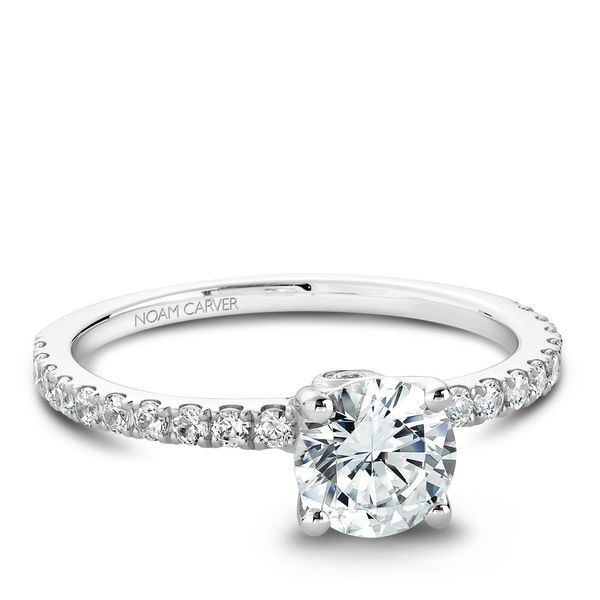 A Noam Carver Matching Band in 14K White Gold with 23 Round Diamonds Image 2 Grogan Jewelers Florence, AL