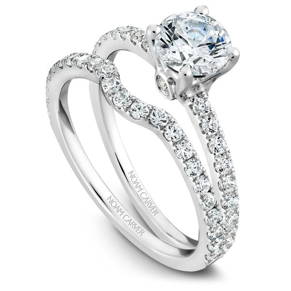 A Noam Carver Matching Band in 14K White Gold with 23 Round Diamonds Image 3 Grogan Jewelers Florence, AL