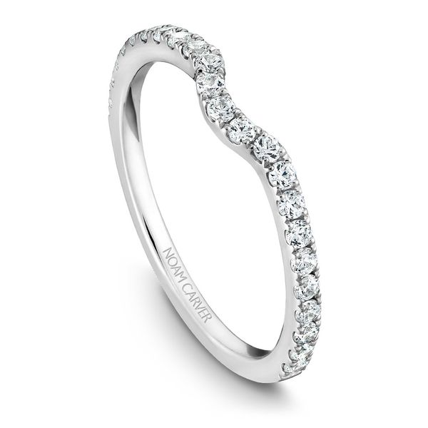 A Noam Carver Matching Band in 14K White Gold with 23 Round Diamonds Image 4 Grogan Jewelers Florence, AL
