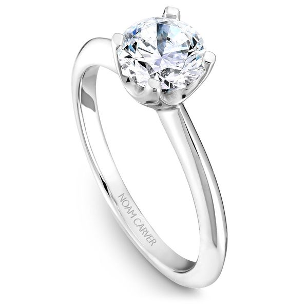 A Noam Carver Engagement Ring in 14K White Gold Grogan Jewelers Florence, AL