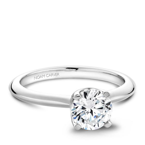 A Noam Carver Engagement Ring in 18K White Gold Image 2 Grogan Jewelers Florence, AL