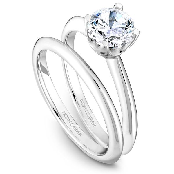 A Noam Carver Engagement Ring in 18K White Gold Image 3 Grogan Jewelers Florence, AL