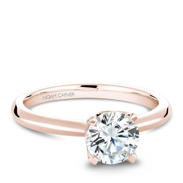 A Noam Carver Engagement Ring in 14K Rose Gold with 42 Round Diamonds Image 2 Grogan Jewelers Florence, AL
