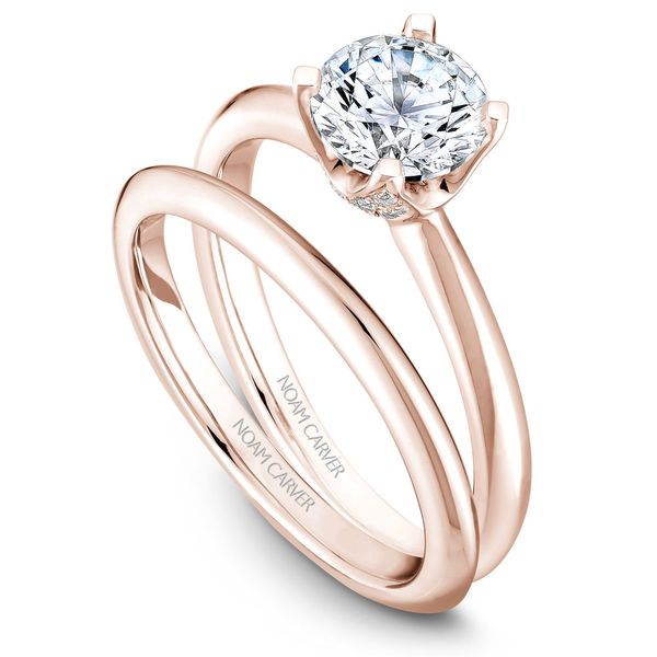 A Noam Carver Engagement Ring in 14K Rose Gold with 42 Round Diamonds Image 3 Grogan Jewelers Florence, AL