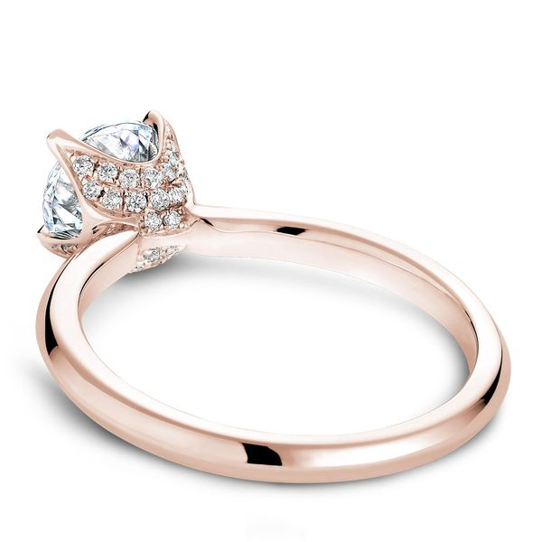 A Noam Carver Engagement Ring in 14K Rose Gold with 42 Round Diamonds Image 4 Grogan Jewelers Florence, AL