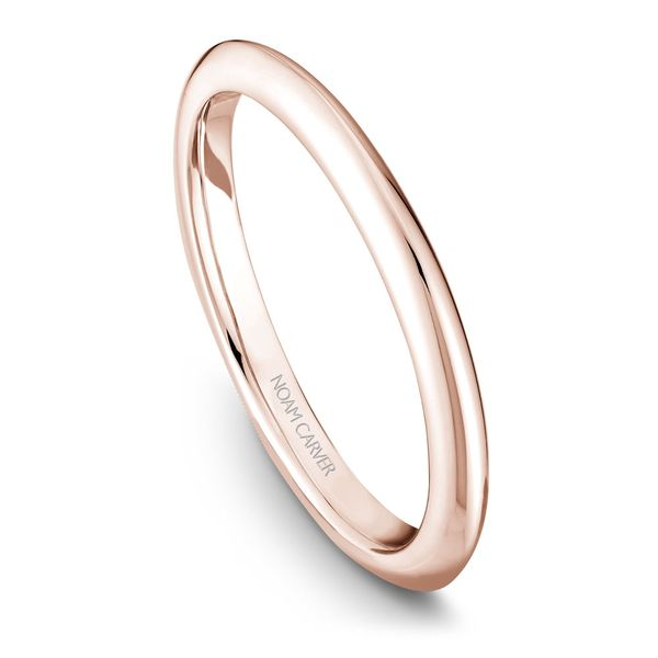 A Noam Carver Engagement Ring in 14K Rose Gold with 42 Round Diamonds Image 5 Grogan Jewelers Florence, AL