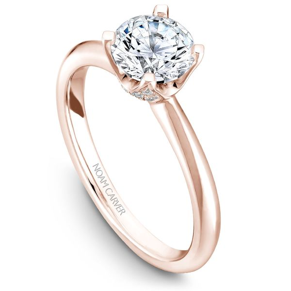 A Noam Carver Engagement Ring in 18K Rose Gold with 42 Round Diamonds Grogan Jewelers Florence, AL