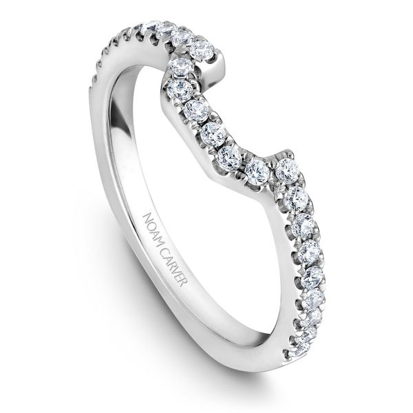 A Noam Carver Matching Band in 14K White Gold with 24 Round Diamonds Grogan Jewelers Florence, AL