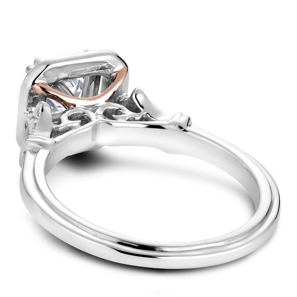 A Noam Carver Engagement Ring in 14K W&R Gold with 26 Round Diamonds Image 4 Grogan Jewelers Florence, AL