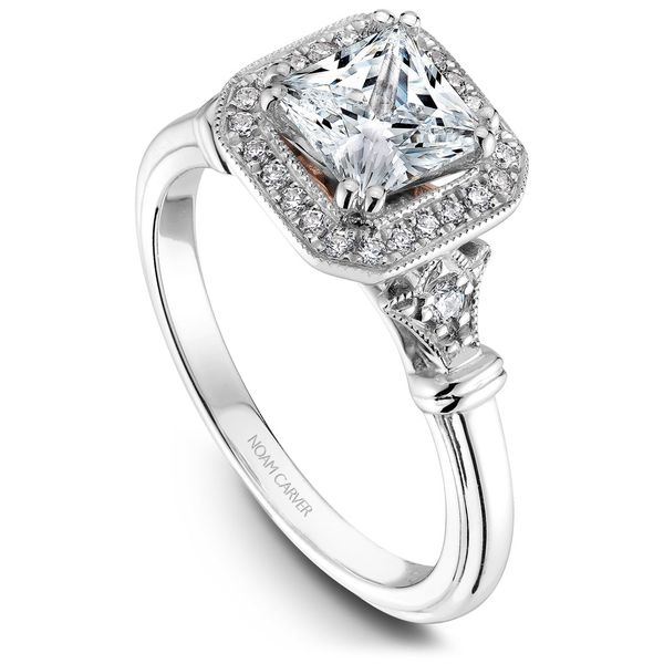 A Noam Carver Engagement Ring in 18K W&R Gold with 26 Round Diamonds Grogan Jewelers Florence, AL