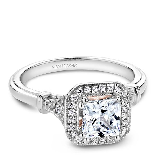 A Noam Carver Engagement Ring in 18K W&R Gold with 26 Round Diamonds Image 2 Grogan Jewelers Florence, AL
