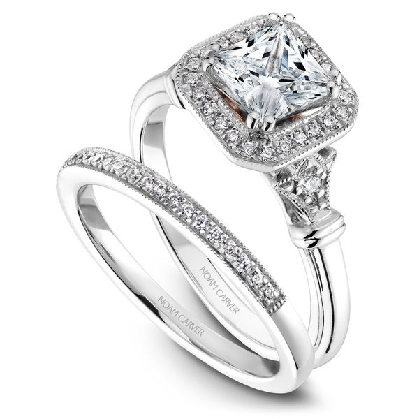 A Noam Carver Engagement Ring in 18K W&R Gold with 26 Round Diamonds Image 3 Grogan Jewelers Florence, AL