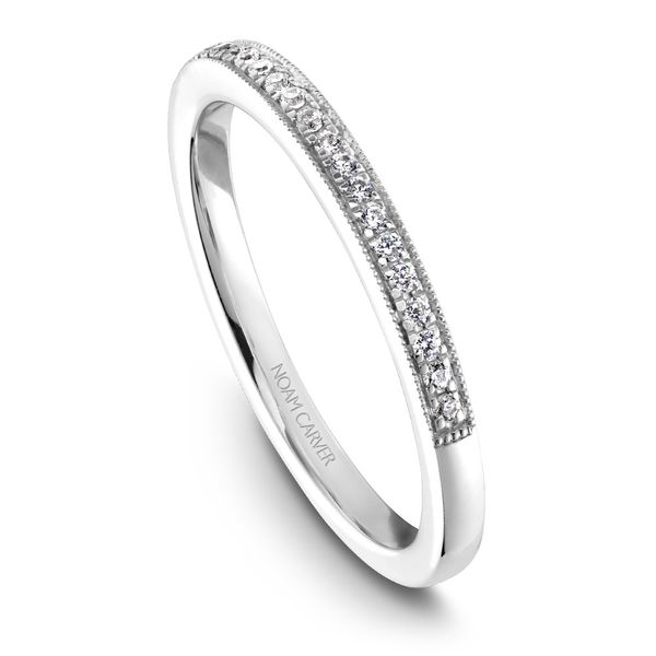 A Noam Carver Matching Band in 18K White Gold with 20 Round Diamonds Grogan Jewelers Florence, AL