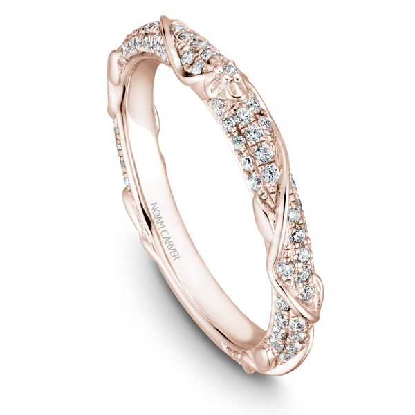 A Noam Carver Matching Band in 18K Rose Gold with 87 Round Diamonds Grogan Jewelers Florence, AL