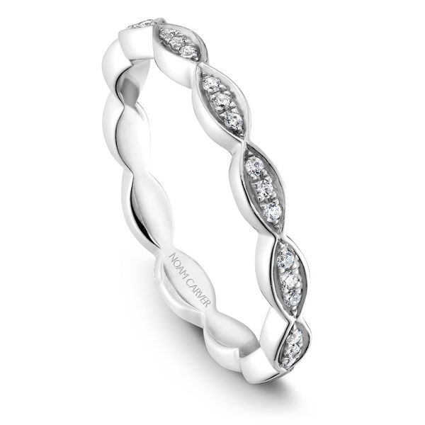 A Noam Carver Matching Band in 18K White Gold with 21 Round Diamonds Grogan Jewelers Florence, AL