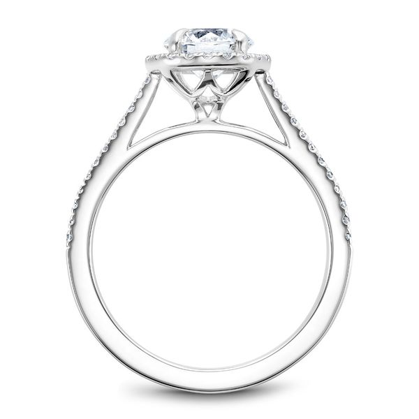 A Noam Carver Engagement Ring in 14K White Gold with 42 Round Diamonds Image 3 Grogan Jewelers Florence, AL