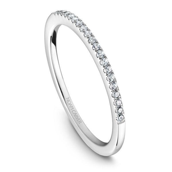 A Noam Carver Engagement Ring in 14K White Gold with 42 Round Diamonds Image 5 Grogan Jewelers Florence, AL