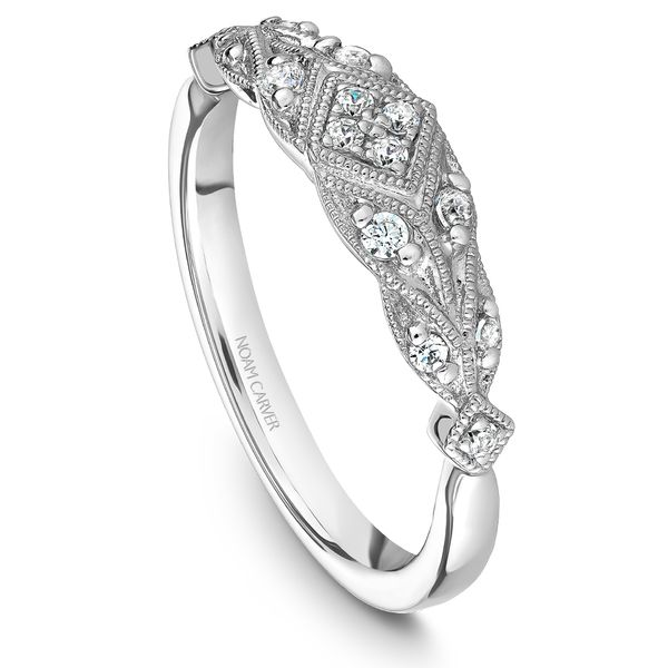 A Noam Carver Matching Band in Platinum 950 with 14 Round Diamonds Grogan Jewelers Florence, AL