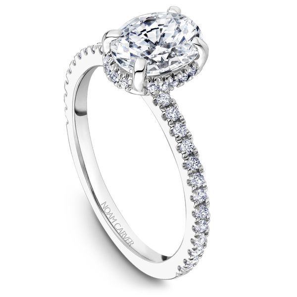 A Noam Carver Engagement Ring in 18K White Gold with 44 Round Diamonds Grogan Jewelers Florence, AL