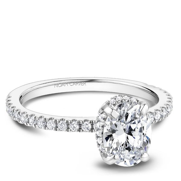 A Noam Carver Engagement Ring in 18K White Gold with 44 Round Diamonds Image 2 Grogan Jewelers Florence, AL