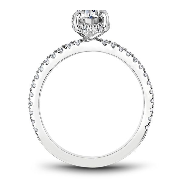 A Noam Carver Engagement Ring in 18K White Gold with 44 Round Diamonds Image 3 Grogan Jewelers Florence, AL