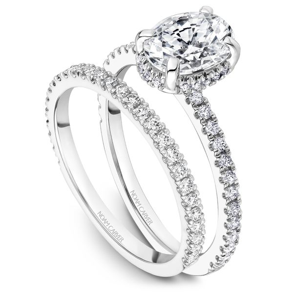 A Noam Carver Engagement Ring in 18K White Gold with 44 Round Diamonds Image 4 Grogan Jewelers Florence, AL