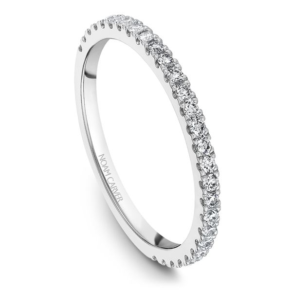 A Noam Carver Matching Band in 18K White Gold with 28 Round Diamonds Grogan Jewelers Florence, AL